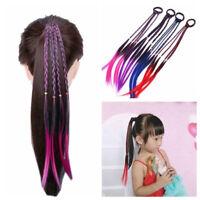 Kids Girls Twist Braid Rope Headband Rubber Band Wig Hair Accessories Fashion