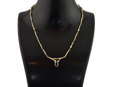 Lapponia Collier 750/000 18 K Gelbgold, 39 cm lang, Saphir, Diamant 0,02 ct