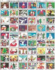 1975 UNITED STATES CHRISTMAS SEALS CHARITY STAMPS FULL SHEET FIGHT TB MINT