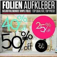 ++ Schaufenster Folie Kundenstopper SALE % Design Beschriftung Neu Sale #2006 ++