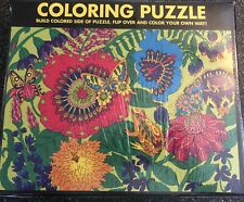 White Mountain Jigsaw Puzzle Garden Coloring Puzzle 300 Piece New Sealed