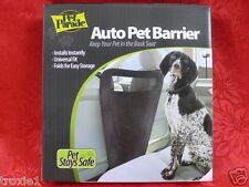 Car Auto Pet Barrier Keeps Pet in Back Seat Black Universal Fit Folds To Store