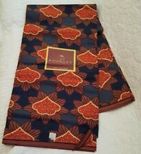 Royalty  Ankara African Wax Print Fabric Material - 1 Yard each - Brown