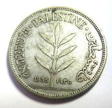 1935 Palestine Silver 100 Mils Coin