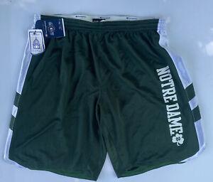 Champion Notre Dame Basketball Shorts NWT Womens XL Dark Green Roll Down Waist
