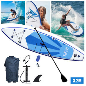 10ft Inflatable Surfboard Stand Up Paddle Board Paddle Pump W/ SUP Accessories