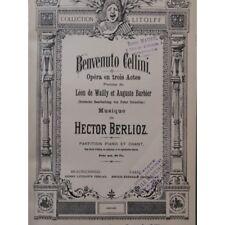 BERLIOZ Hector Benvenuto Cellini Opéra Chant Piano ca1890 partition sheet music