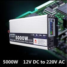 5000W 12V DC to 220V AC Pure Sine Wave power Inverter RV/Truck/Car/Home Solar