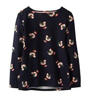 Joules Harbour Print Women's Long Sleeve Jersey Top (Navy Posy)