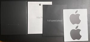 Apple Mac Pro 2013 Information Guide, Full speed ahead brochure & Apple stickers