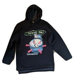 Green Day Insomniac Hoodie Large Vintage 1995