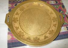 Omar Guild  Studios Gold Encrusted Two-Handled Serving Plate Thomas Bavaria