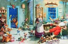 Vintage Santa Mrs Clause, Elves Christmas