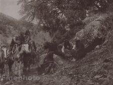1900/72 Photogravure NATIVE AMERICAN INDIAN Apache Story Art EDWARD CURTIS 11x14