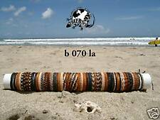 WHOLESALE MIX 25 NEW SURF SKATER LEATHER BRACELETS STRAP IN BROWN BLACK / b070la