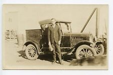 "Rawleigh Products Salesman Truck ""Good Health Service""  RPPC Real Photo Postcard"