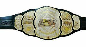 SH AEW World Heavyweight Champion Wrestling Leather Belt Replica Adult Dual Plat