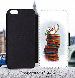 Hedwig Owl Leather Flip Wallet Phone Case Cover