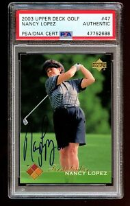 Nancy Lopez #49 signed autograph auto 2003 Upper Deck Golf Card PSA Slabbed