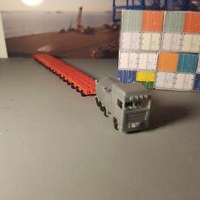N Gauge heavy haul truck semi lorry and modular trailer