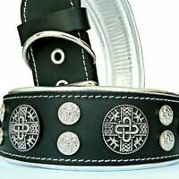 Hand made genuine leather dog collar. Studded Made in Europe. Top quality.XS-XXL
