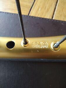 Old school BMX, Rear Araya aero wheel.