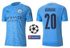 Trikot Puma Manchester City 2020-2021 Home - Bernardo 20 I Heim Champions League
