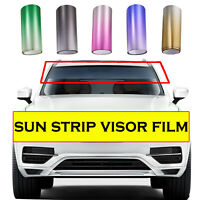 2pcs Front Heat Insulation Solar Film Water Resistant UV Protected Film 20*150CM