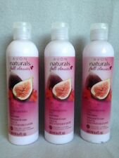 AVON Naturals Comforting Fig 30H  body Lotion Lot of (3) 8.4 fl oz each