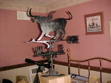 "(1)Cast Alum Weathervane 20"" wide. with Texas Longhorn Steer roof mtd."