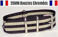 NATO ★ 20MM ★ N°37 ★ Bracelet montre Watch Band Strap Nylon Military Army 007