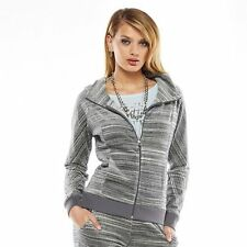 Juicy Couture Space Dyed  Gray Hoodie Jacket Size XL