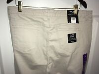 Womens NINE WEST JEANS Gramercy Skinny Ankle Jeans khaki denim size 16 x 29