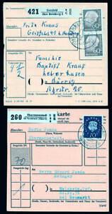 BRD 9 Paketkarten , meist um 1960