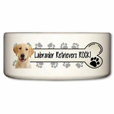 New listing Labrador Retrievers Rock Ceramic Dog Bowl