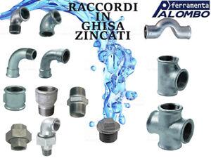 "RACCORDO RACCORDI IDRAULICI IN GHISA MALLEABILI ZINCATI 3/8 1/2 3/4 1"" 1""1/4 1""1"
