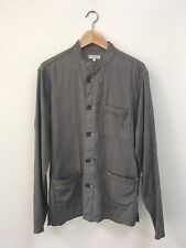 Engineered Garments Gray Weaved Nehru Chore Shirt Size Large Made In USA NWOT