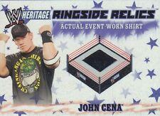 JOHN CENA 2007 Topps Heritage III Ringside Relics WWE EVENT WORN T-SHIRT