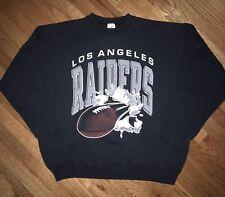 Los Angeles Raiders Jostens Crewneck Sweatshirt XL All Over Print Vtg 90s NFL