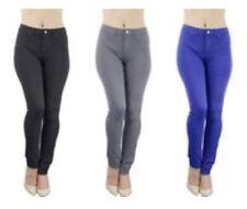 Women's Viva Diva 5-Pocket Leggings 3-pk (Black Khaki Navy) Size L NWT