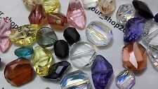 10x Mixed Faceted Gemstone Pendant for Necklace Natural Crystal Glass Stone Bead