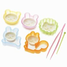 Torune Happy Animal Ham and Cheese Cutter Mold for Bento Lunch 12pc