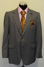 MS811 SKOPES  MEN'S  GREY PURE NEW WOOL 2PC SUIT CHEST 40  W38  L28