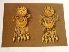 CPM GREECE GOLD EARRINGS FOM HAS TOMB OF DERVENI THESSALONIKI