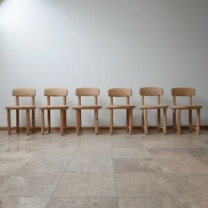 Set of Six Pine Mid-Century Dining Chairs by Rainer Daumiller (6)