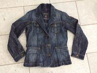Wissmach Denim Blazer Damen Jeans Jacke Gr. 38 Knitter Look Used Effekt wie Neu