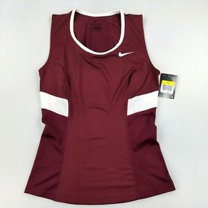 Nike Womens Dri-Fit Power Tank Top Maroon Size Small
