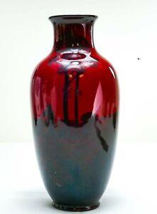 Royal Doulton Flambe Vase Farming Landscape Design Noke! Made in England
