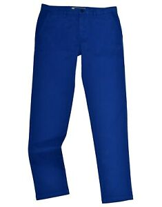 Burberry Mens Chino Trouser Pant BURBERRY BRIT Slim Fit Royal Blue