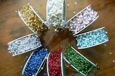 Beads on Wire 5mm Approx 35mm apart 3 Met Lengths 8 Colour Choice Ver 8 May Arts